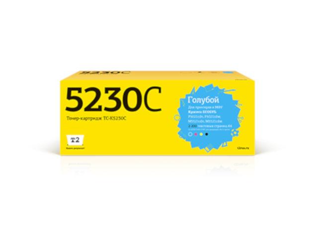 Фото - Картридж T2 TC-K5230C Cyan для Kyocera Ecosys M5521cdn/M5521cdw/P5021cdn/P5021cdw с чипом картридж t2 tc c718c cyan с чипом