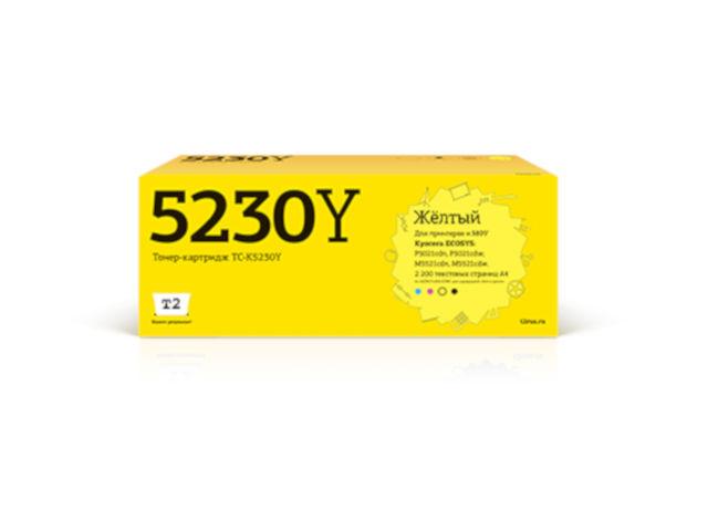 Фото - Картридж T2 TC-K5230Y Yellow для Kyocera Ecosys M5521cdn/M5521cdw/P5021cdn/P5021cdw с чипом картридж t2 tc c718c cyan с чипом