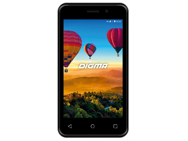 Сотовый телефон Digma LINX ALFA 3G Black сотовый телефон digma vox s507 4g white