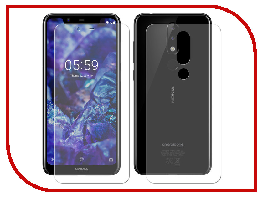 Фото - Аксессуар Защитная пленка для Nokia 5.1 Plus LuxCase Front & Back Full Screen Transparent 88650 plus open front vertical striped kimono