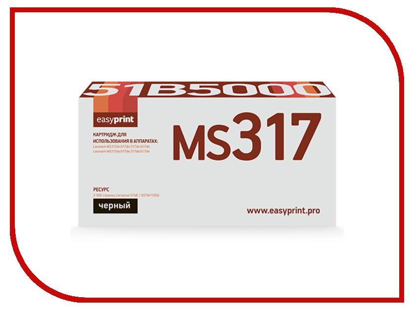 Картридж EasyPrint LL-51B5000 Black для Lexmark MS317dn/417dn/517dn/617dn/MX317dn/417de/517de/617de с чипом protective aluminum case for dsi ll black