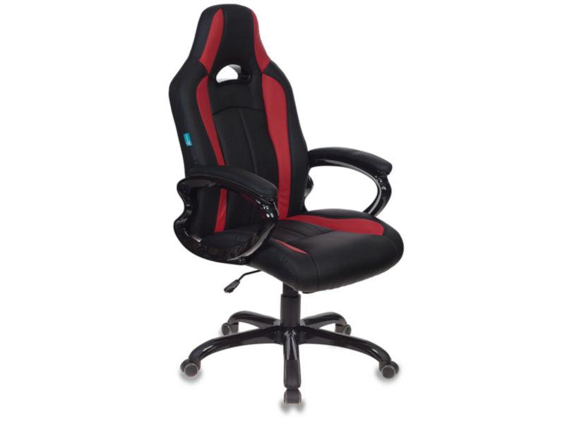 Компьютерное кресло Бюрократ CH-827/BL+RED Black-Red кресло компьютерное бюрократ бюрократ ch 868axsn красное