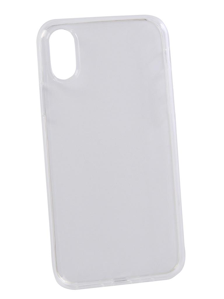 Аксессуар Чехол Media Gadget для APPLE iPhone Xs Essential Clear Cover Transperent ECCIPXSTR чехол anycase для apple iphone x transperent