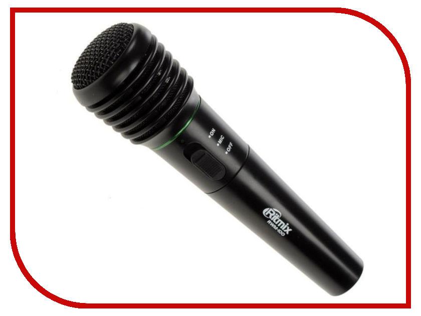 Микрофон Ritmix RWM-100 Black portable emergency led flashlight hand crank solar fm radio with power charger