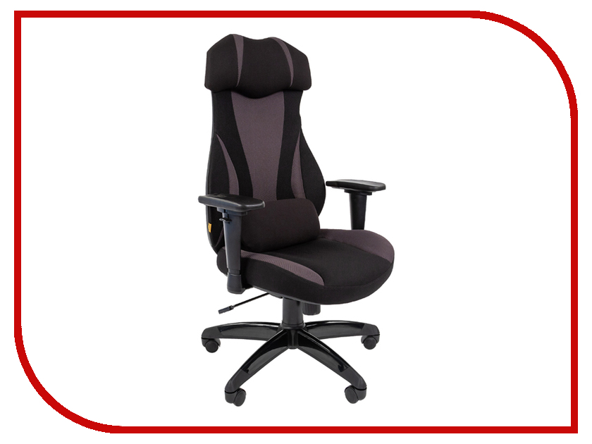 Компьютерное кресло Chairman Game 14 Black-Grey 00-07022218 dxracer oh ea01 nr компьютерное кресло black red