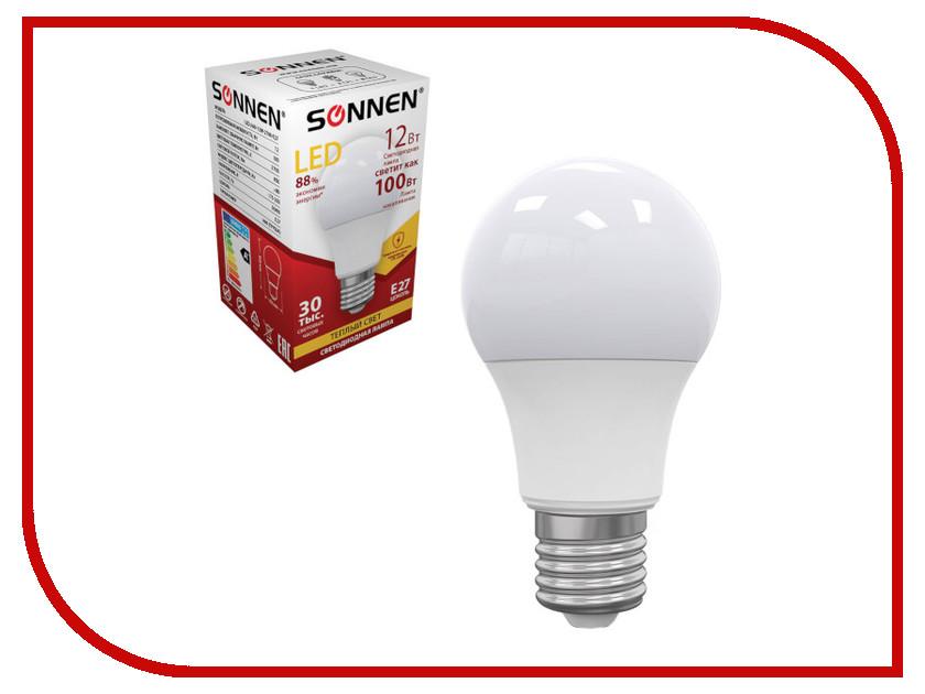 Лампочка Sonnen LED A60 12W 2700K E27 453697 kd mbd fx 12w nbg 12w 340lm 3500k led ceiling panel light white 86 265v