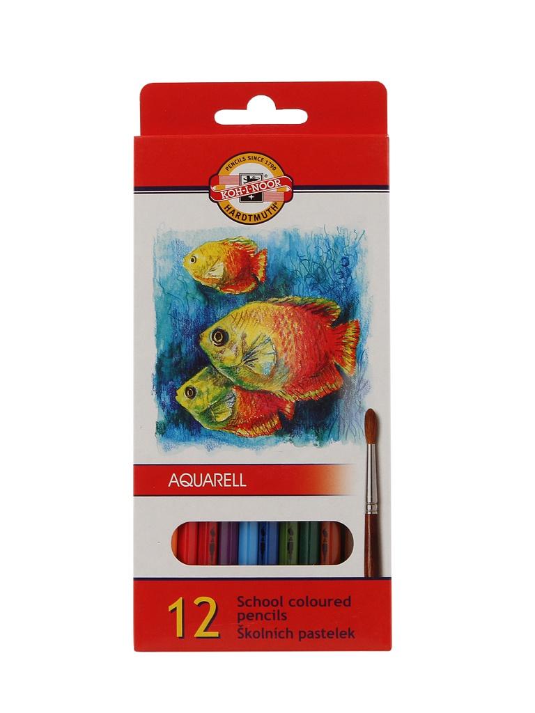 Карандаши цветные Koh-i-Noor Fish 12 цветов Акварельные 3716012004KS