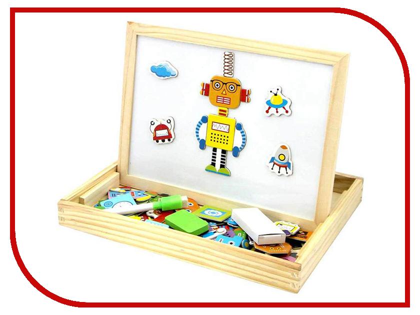 База игрушек Двухсторонняя магнитная доска Роботы BAZA-2015-2 лабиринт деревянный база игрушек model 1шт