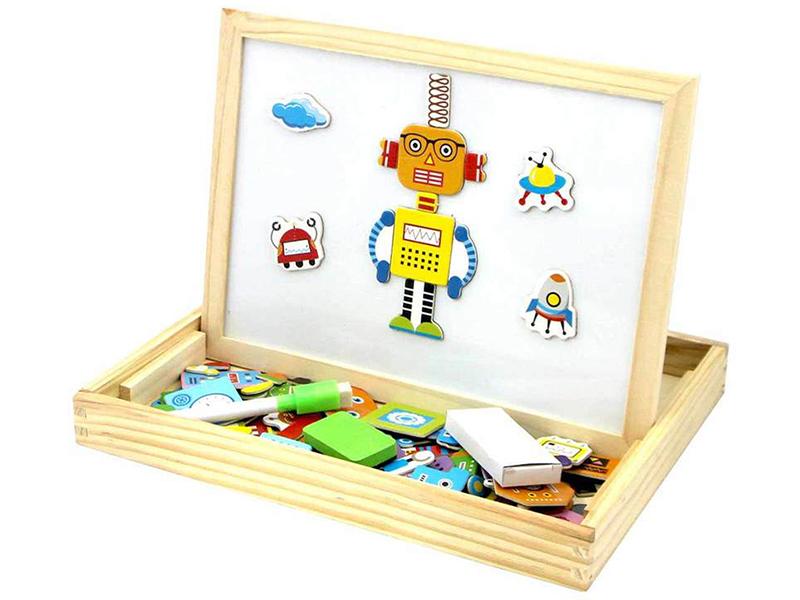 Двухсторонняя магнитная доска База игрушек Роботы BAZA-2015-2