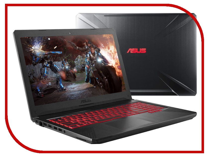 Ноутбук ASUS TUF FX504GE-E4633 Metal 90NR00I3-M10760 (Intel Core i7-8750H 2.2 GHz/8192Mb/1000Gb+256Gb SSD/nVidia GeForce GTX 1050Ti 4096Mb/Wi-Fi/Cam/15.6/1920x1080/DOS) asus rog fx504ge metal fx504ge e4031t