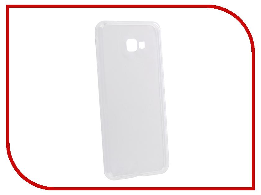 Аксессуар Чехол для Samsung Galaxy J4 Plus 2018 Onext Silicone Transparent 70687 аксессуар защитное стекло для samsung galaxy s6 edge onext 3d transparent 41163