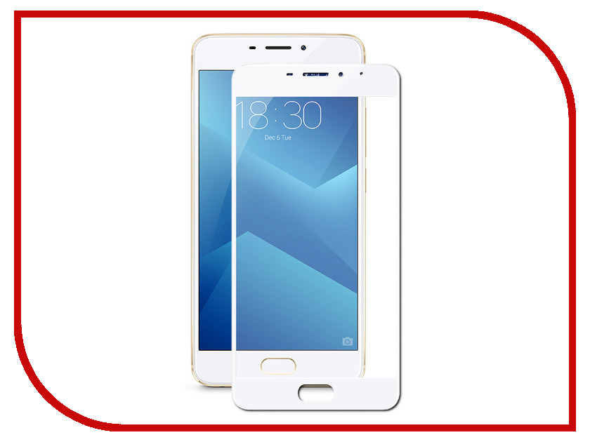 Аксессуар Защитное стекло для Meizu M5 Note Onext White Frame 41451 top quality lcd display digitizer touch screen assembly for meizu u10 phone with frame free shipping with tools as gift
