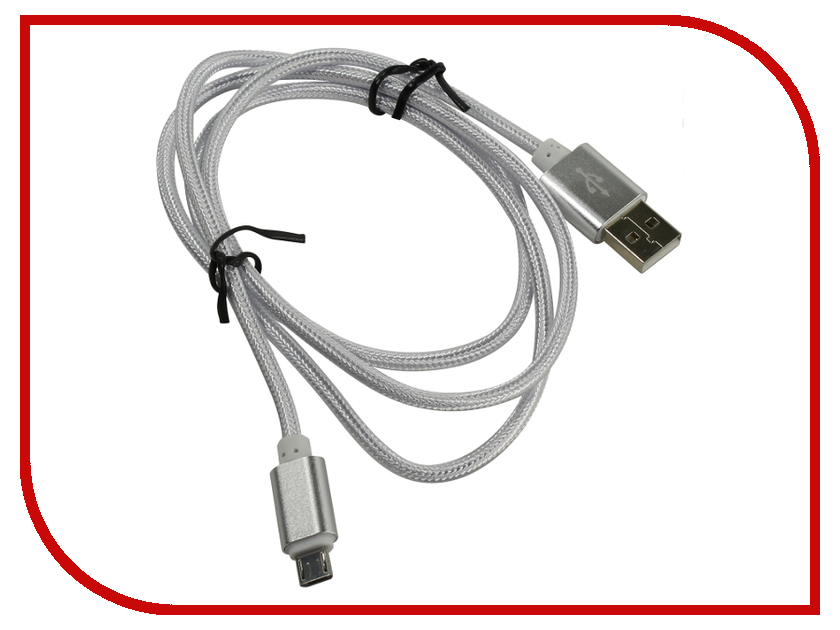 Аксессуар KS-is USB - MicroUSB 1.0m White KS-324W