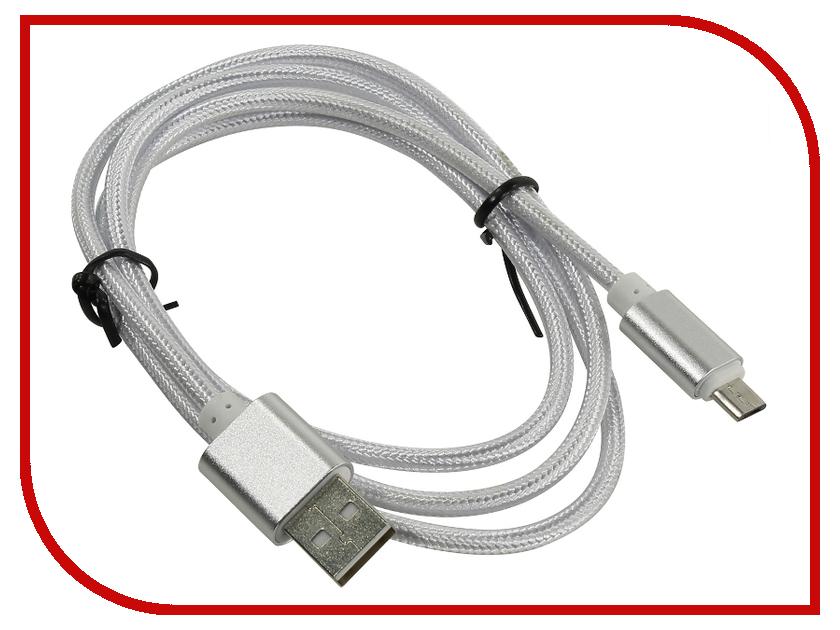 Аксессуар KS-is USB - MicroUSB 1.0m Grey KS-324S аксессуар ks is usb to rs 232 pl2303 213 ks 213