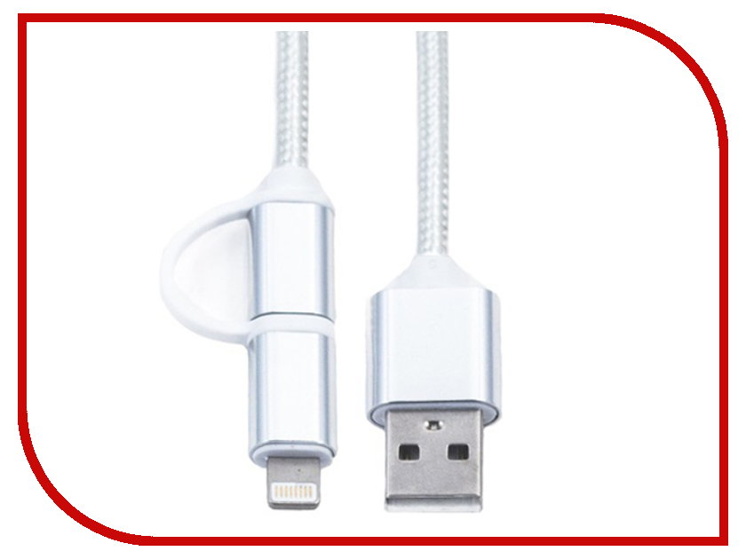 Аксессуар KS-is 2в1 USB - Lightning/MicroUSB 1.0m White KS-285W аксессуар ks is usb to rs 232 pl2303 213 ks 213 page 3