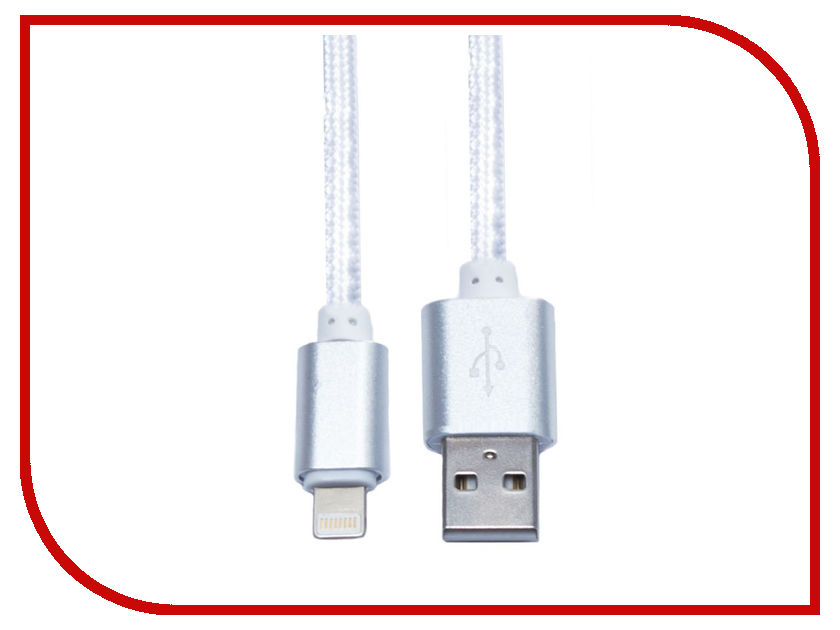 Аксессуар KS-is USB - Lightning 1.0m White KS-283W аксессуар dialog ci 0001 lightning micro usb white