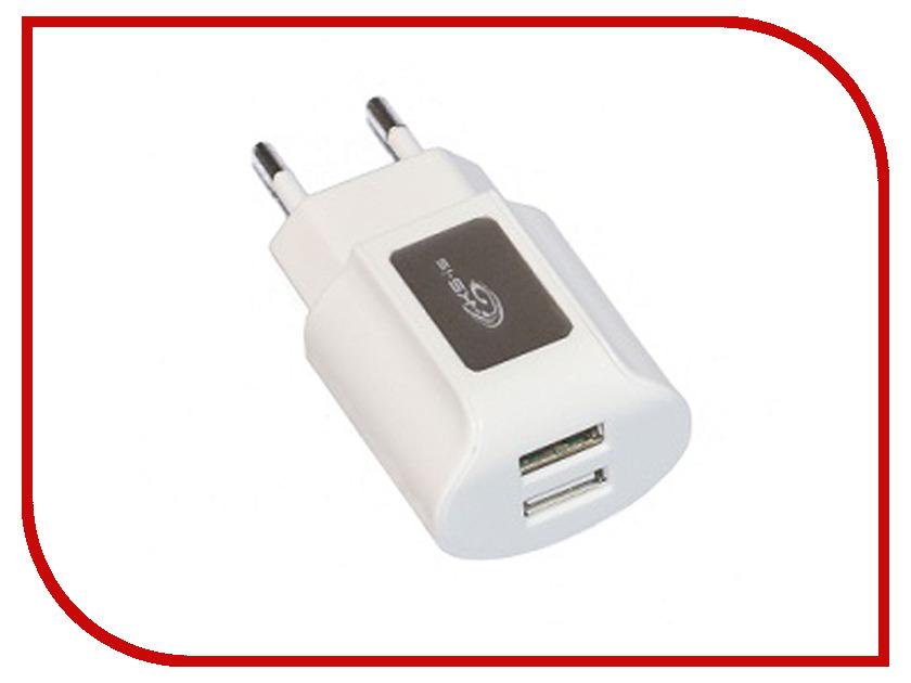 Зарядное устройство KS-is Toss KS-056W 2xUSB 2000mA White цены онлайн