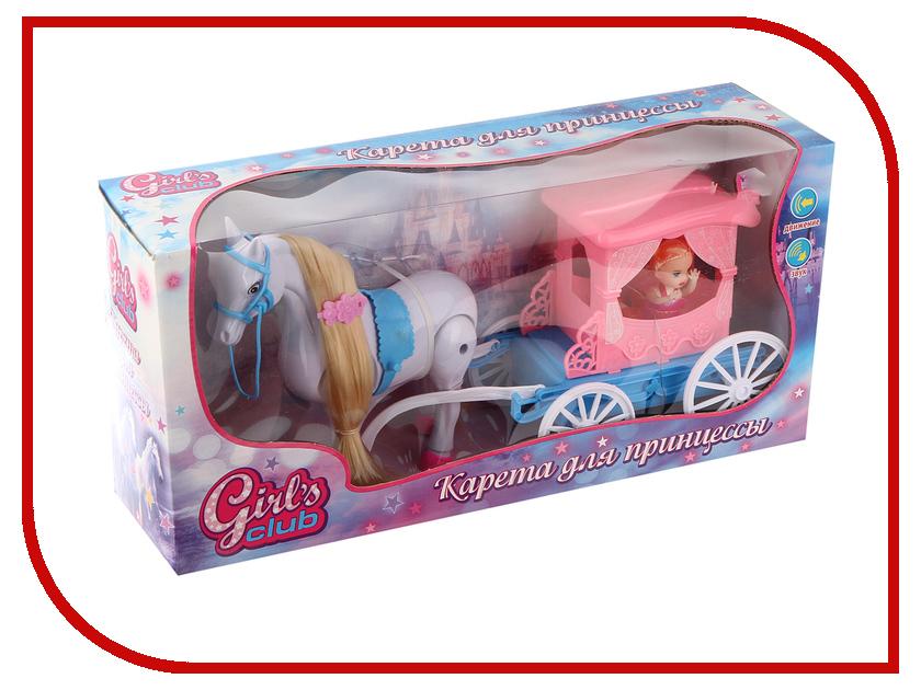 Игровой набор Наша игрушка Карета Girls Club 8504/GC кукольные домики и мебель girls club замок для принцессы с аксессуарами 8521 gc