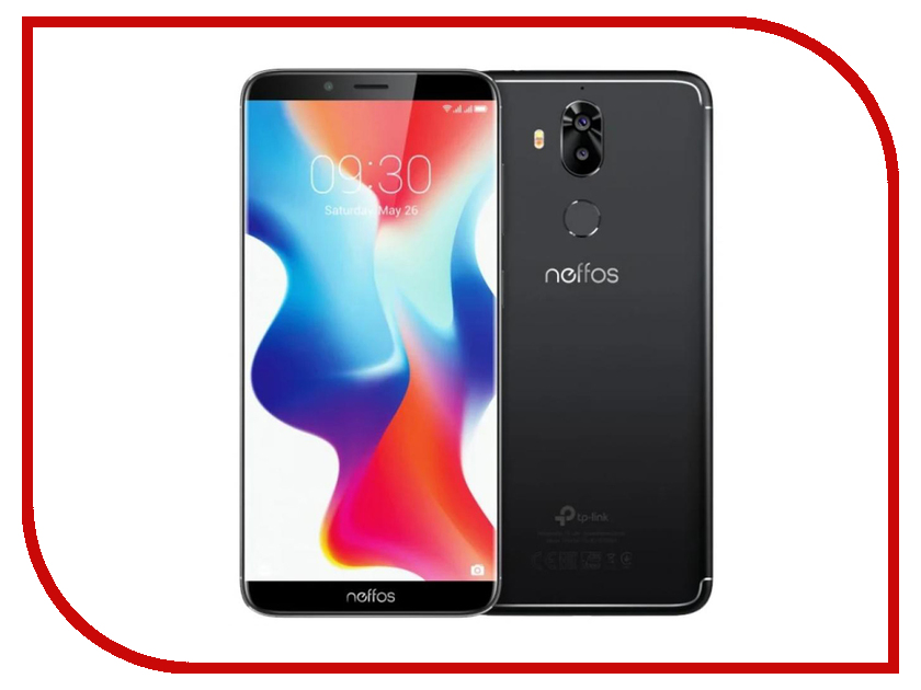 Сотовый телефон Neffos X9 64Gb Space Black TP913A5ARU