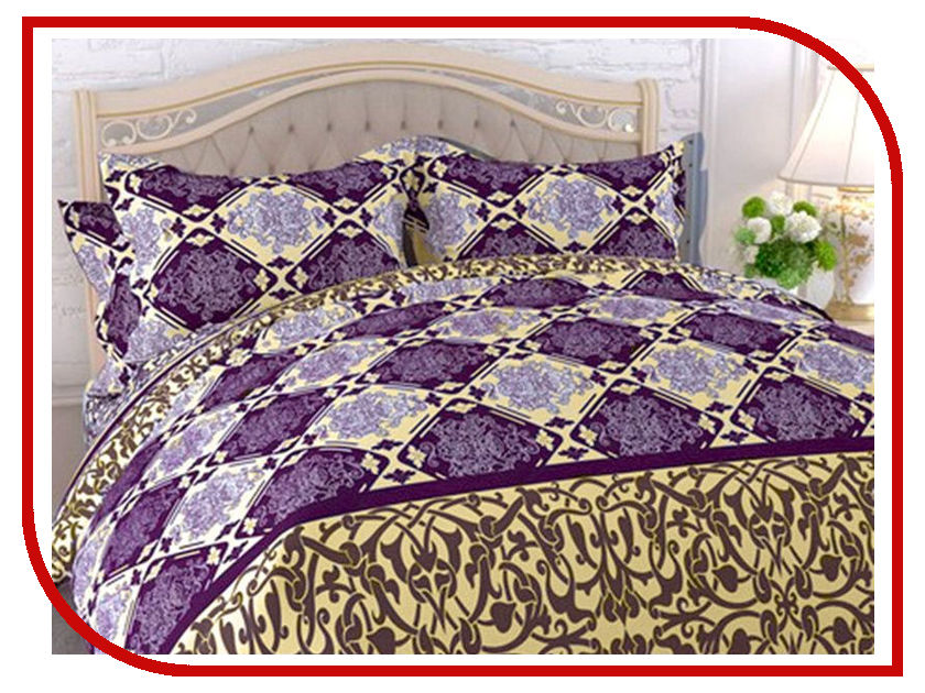 Постельное белье Эго Соната Комплект Семейный Бязь ЭБ-2011-04 постельное белье эго комплект 1 5 спальный полисатин