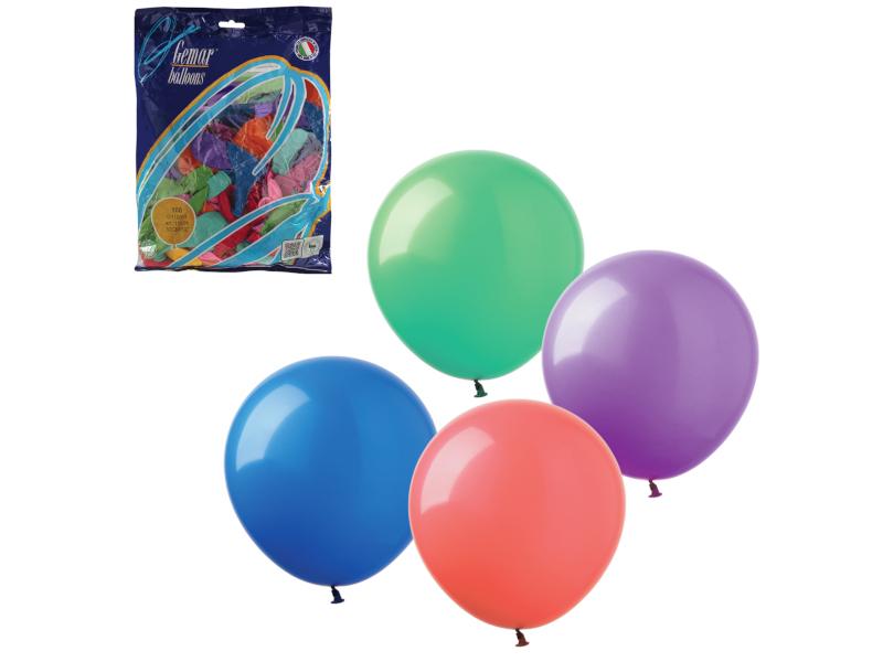 Набор воздушных шаров Веселая затея 12-inch 100шт Пастель Ассорти 1101-0006