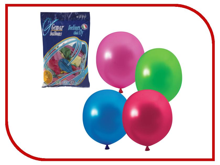 Набор воздушных шаров Веселая затея 10-inch 100шт Металлик Ассорти 1101-0001