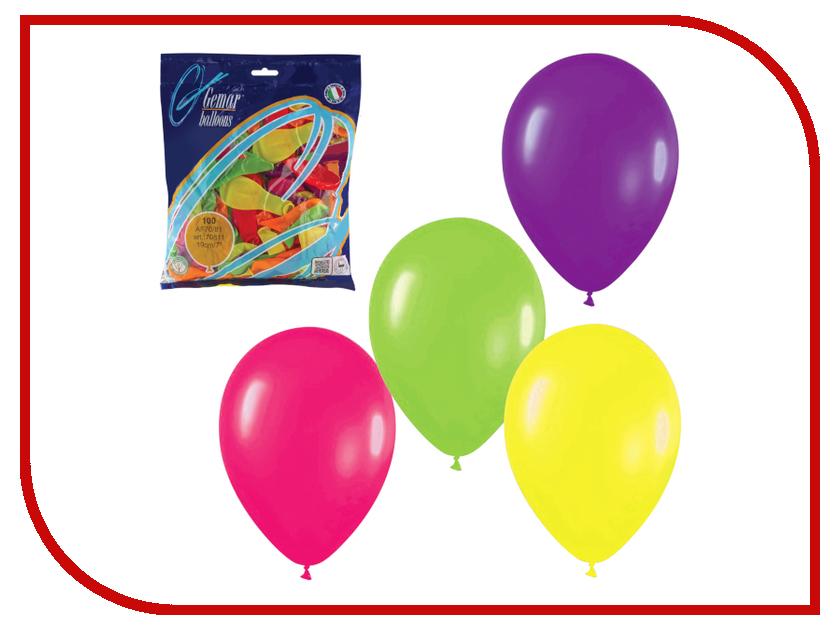 Набор воздушных шаров Веселая затея 7-inch 100шт Неон Ассорти 1101-0021 все цены