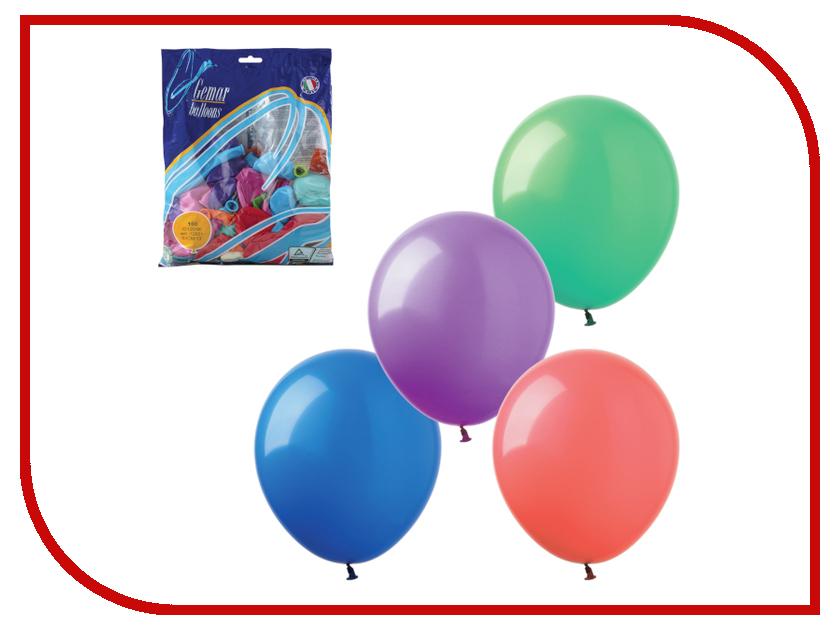 Набор воздушных шаров Веселая затея 14-inch 100шт Пастель Ассорти 1101-0010
