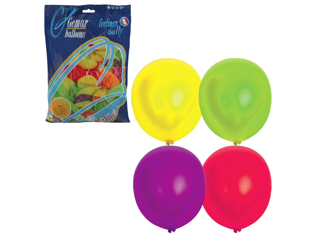 Набор воздушных шаров Веселая затея 12-inch 100шт Неон Ассорти 1101-0005