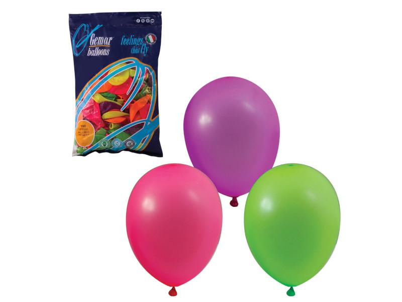 Набор воздушных шаров Веселая затея 10-inch 100шт Неон Ассорти 1101-0002