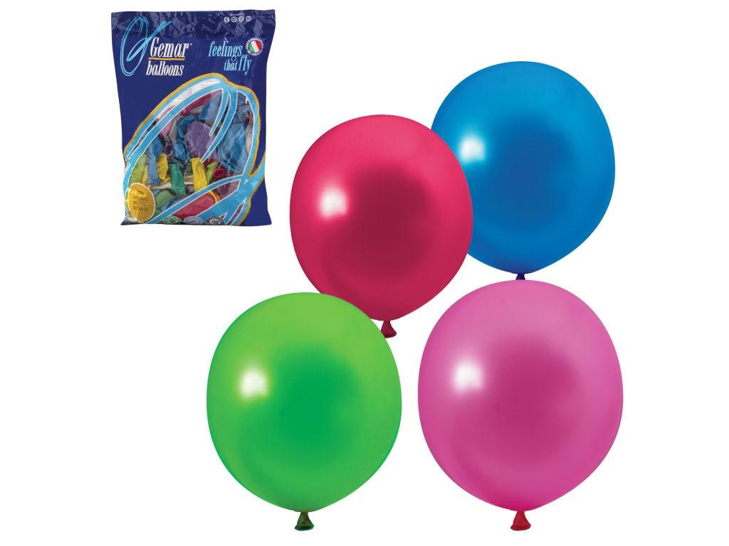 Набор воздушных шаров Веселая затея 12-inch 100шт Металлик Ассорти 1101-0004