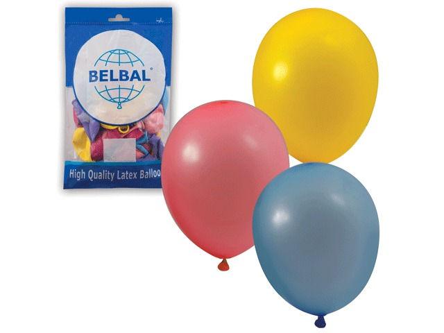 Набор воздушных шаров Веселая затея 10-inch 50шт Пастель Ассорти 1101-0031