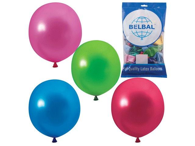 Набор воздушных шаров Веселая затея 14-inch 50шт Металлик Ассорти 1101-0025