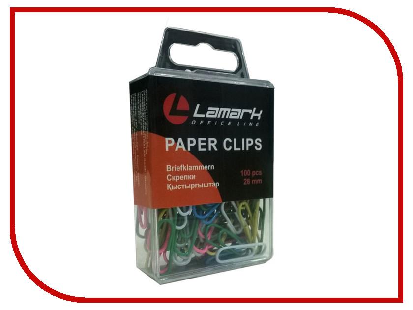 Скрепки Lamark 100шт 28mm Colored PC0227