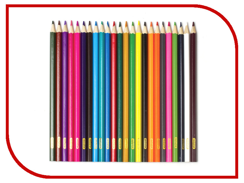 Карандаши цветные Пифагор 24 цвета 180298 пифагор восковые карандаши 24 цвета