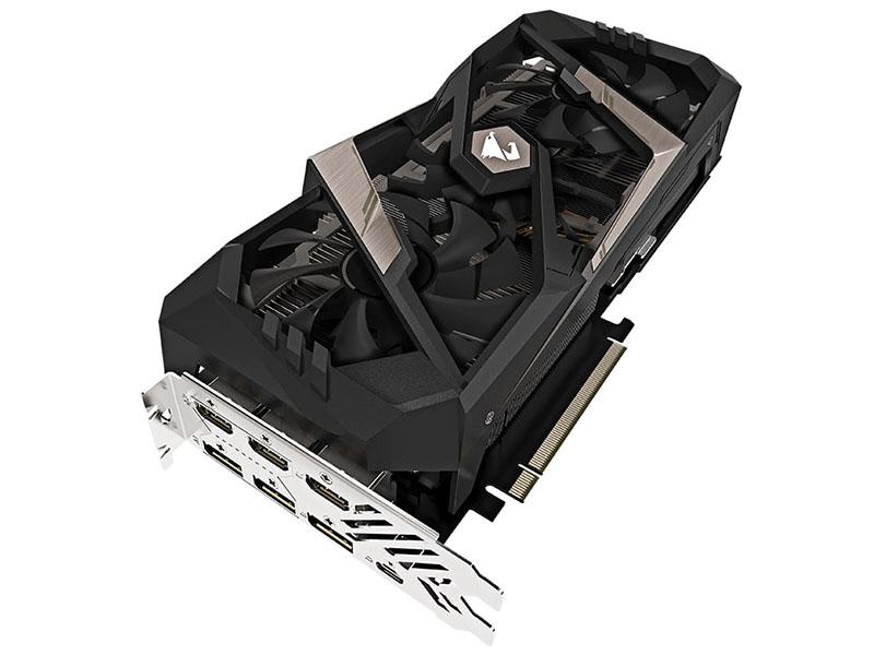 Видеокарта GigaByte GeForce RTX 2080 AORUS 1845Mhz PCI-E 3.0 8192Mb 14000Mhz 256 bit USB-C HDMI 3xDP GV-N2080AORUS-8GC