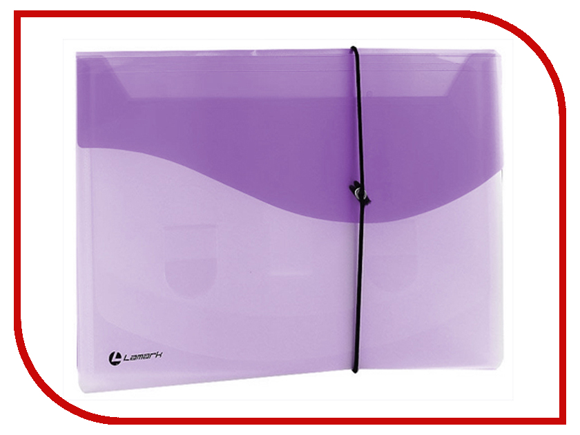 Папка Lamark на резинке A4 Transparent-Lilac TF0404-LL