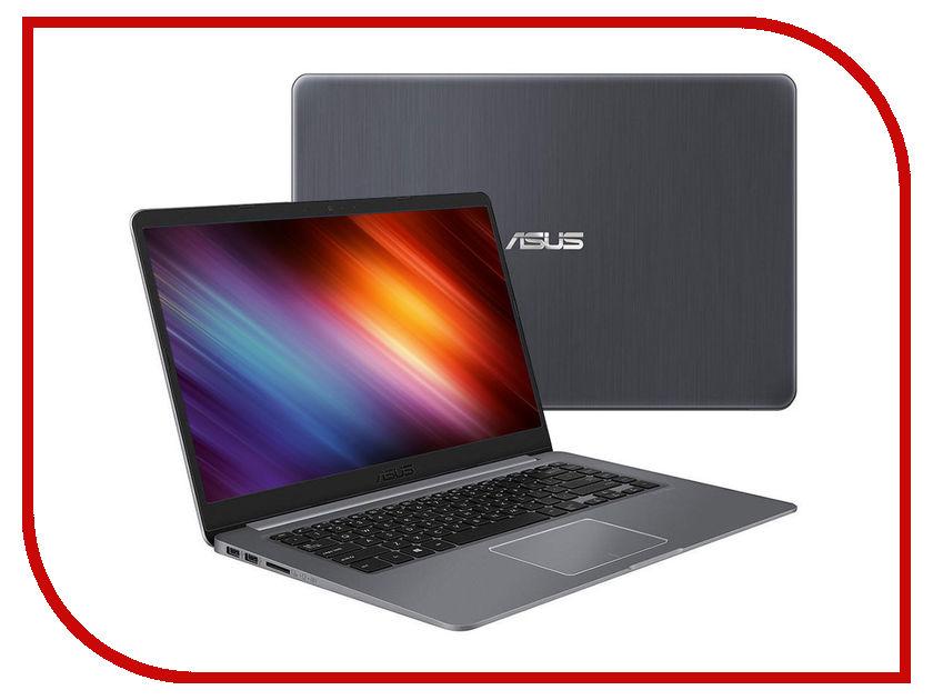 Ноутбук ASUS VivoBook S510UN-BQ442T Grey 90NB0GS5-M07910 (Intel Core i5-8250U 1.6 GHz/6144Mb/500Gb+128Gb SSD/nVidia GeForce MX150 2048Mb/Wi-Fi/Bluetooth/Cam/15.6/1920x1080/Windows 10 Home 64-bit)
