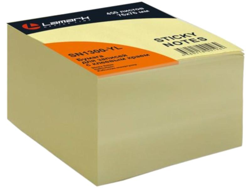 Стикеры Lamark 76x76mm 450 листов Yellow SN1300-YL кнопки lamark 12mm 100шт th0247