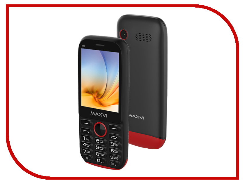Сотовый телефон Maxvi K17 Black-Red сотовый телефон maxvi c22 black