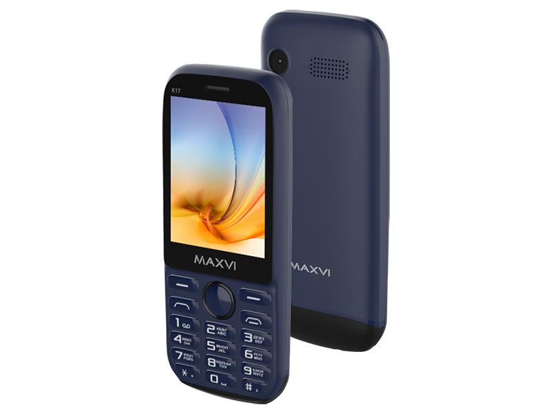 Сотовый телефон Maxvi K17 Marengo-Black мобильный телефон maxvi b7 marengo