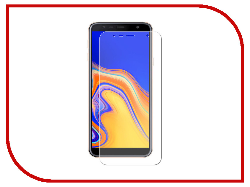 Аксессуар Гибридная защитная пленка для Samsung Galaxy J4 Plus 2018 Red Line УТ000016659 аксессуар защитная пленка для samsung galaxy a5 2017 5 2 red line глянцевая ут000010244