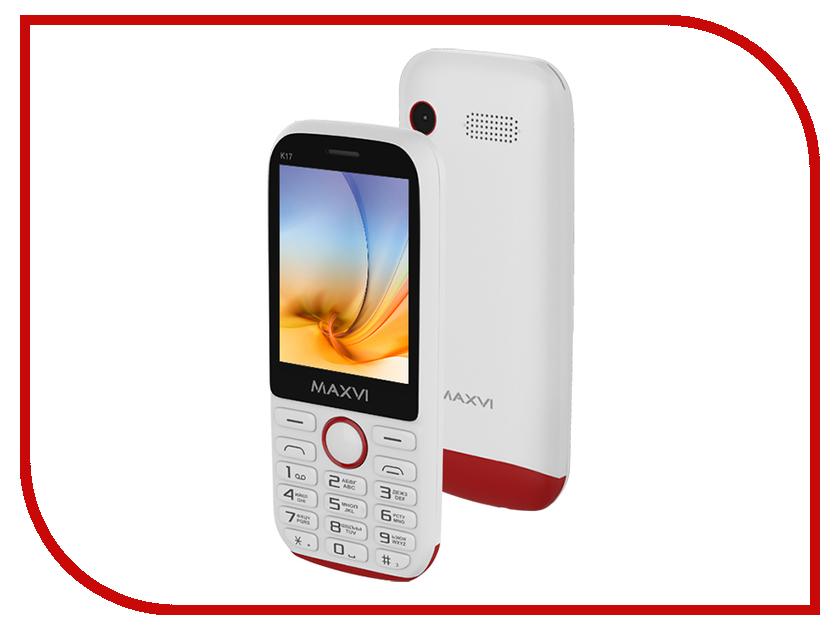 Сотовый телефон Maxvi K17 White-Red сотовый телефон maxvi c21 red