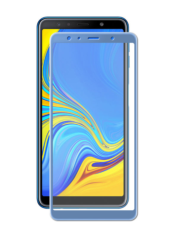 Аксессуар Защитное стекло Red Line для Samsung Galaxy A7 2018 Full Screen Tempered Glass Full Glue Blue УТ000016476 аксессуар защитное стекло red line для huawei y7 2019 full screen tempered glass full glue blue ут000017795