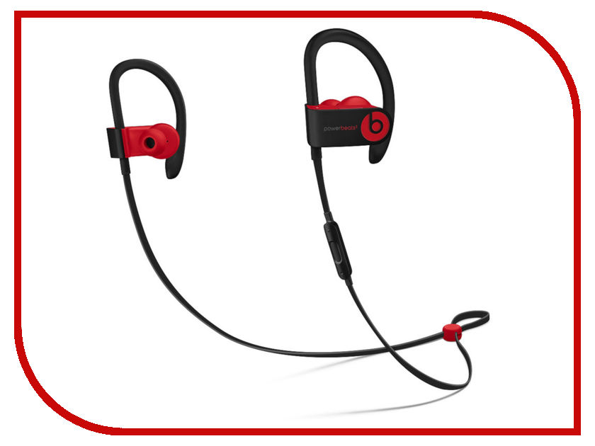 Beats Powerbeats3 Wireless Earphones Decade Collection Defiant Black-Red MRQ92EE/A defiant