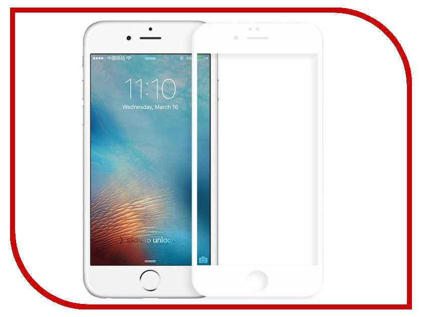 Аксессуар Защитное стекло для APPLE iPhone 7 Rock Tempered Glass With Soft Edge 3D White kinera bd005 1dd with 1ba in ear dynamic headset monitor hifi sports music earphones for iphone 7 android phones