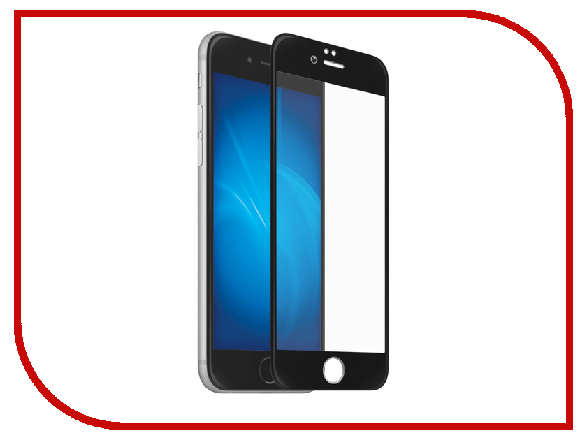 Аксессуар Защитное стекло для APPLE iPhone 8 Rock 3D Curved Glass With Soft Edge 0.23mm Anti-Blue Light Black аксессуар защитное стекло brosco 3d для apple iphone 8 black ip8 3d glass black