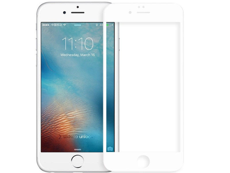 Аксессуар Защитное стекло Rock для APPLE iPhone 8 3D Curved Glass With Soft Edge 0.23mm Anti-Blue Light White aj 9988 3 8 lcd handheld metal detector with 4 led white light