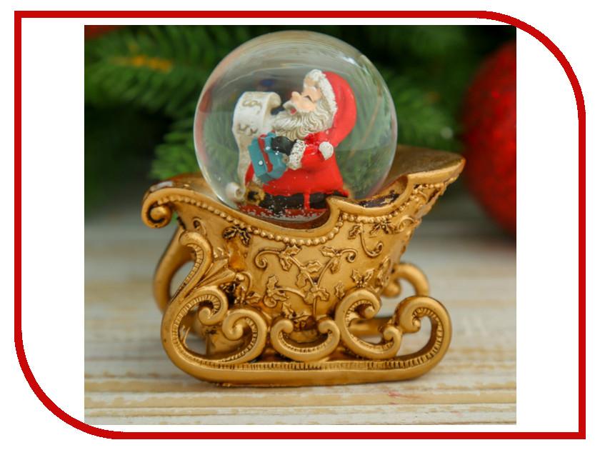 Снежный шар СИМА-ЛЕНД Дед Мороз на санях 1304736 салфетница сима ленд хрюша и дед мороз 3789374