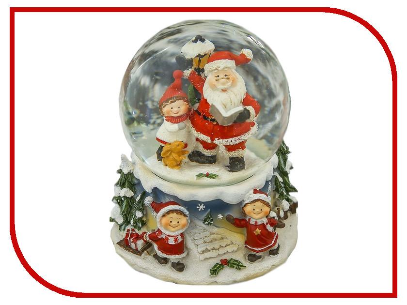 Снежный шар СИМА-ЛЕНД Дедушка Мороз читает книжку 14.5x12.5x12cm Музыкальный 3244439